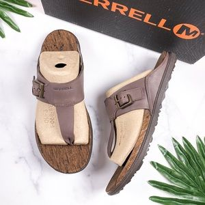 NIB Merrell Around Town Luxe Post Thong Sandal 9